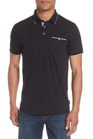 Ted Baker London Derry Flat Knit Polo Shirt