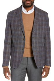 Ted Baker London Kyle Berry Plaid Two Button Notch