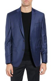 Ted Baker London Jay Blue Check Two Button Notch L