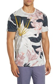 Ted Baker London Floral Print Graphic T-Shirt