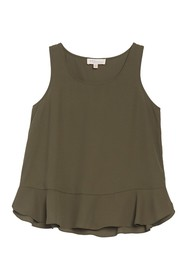 Philosophy Apparel Sleeveless Ruffled Blouse (Peti
