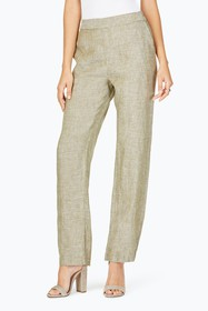 FOXCROFT Livingston Linen Pants
