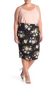 ECI Floral Pull-On Skirt (Plus Size)
