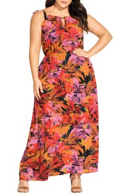 City Chic Sunrise Maxi Dress