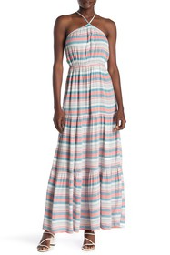 ONE ONE SIX Halter Neck Striped Maxi Dress
