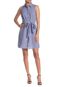 Papillon Collared Tie Front Dress