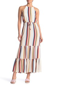 MAX & ASH Variegated Stripe Maxi Dress