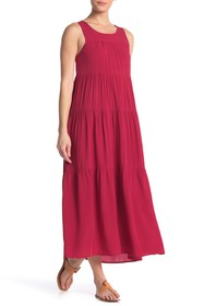 Max Studio Tiered Sleeveless Maxi Dress