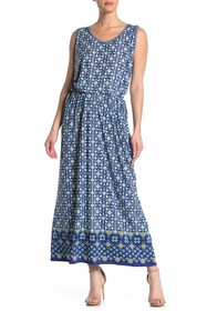Max Studio V-Neck Sleeveless Maxi Dress