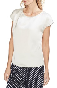 Vince Camuto Short Sleeve Satin Blouse