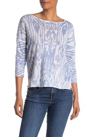 Kinross Batikat Linen Long Sleeve Top