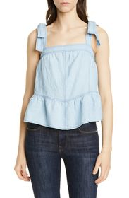 La Vie Rebecca Taylor Indigo Sleeveless Cotton & L