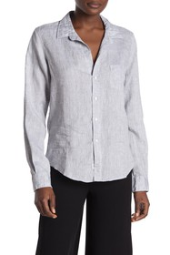 FRANK & EILEEN Barry Sharkskin Linen Shirt