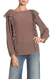 Frye Harper Long Sleeve Silk Blouse