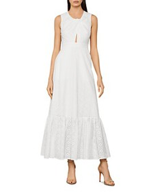 BCBGMAXAZRIA - Cotton Eyelet Maxi Dress