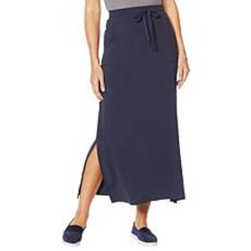 """As Is"" ModernSoul® Luxe French Terry Maxi Skirt w"