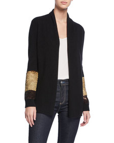Neiman Marcus Cashmere Collection Two-Way Sequin-S