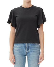 Citizens of Humanity Anise Flutter-Sleeve Cropped