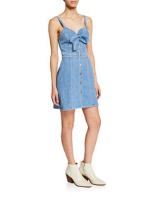 7 For All Mankind Double Bow-Front Sweetheart Slee