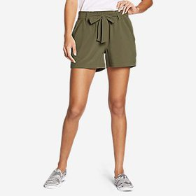 Women's Departure High-Rise Mesh-Inset Shorts