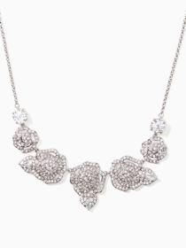 crystal rose mini necklace