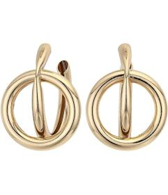 Kenneth Jay Lane Gold Hoop with Open Circle Center