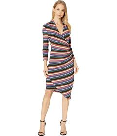 Nicole Miller Downtown Stripe Jersey Long Sleeve D