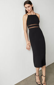 BCBG Organdy Trim Midi Dress