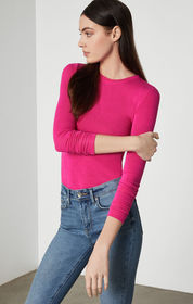 BCBG Crew Neck Jersey Top