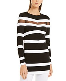 INC Illusion-Stripe Colorblocked Tunic, Created fo