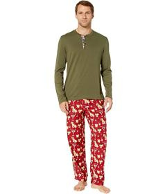 Tommy Bahama Cheers Long Sleeve Flannel PJ Set