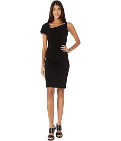 Nicole Miller Heavy Jersey One Shoulder Mini Dress
