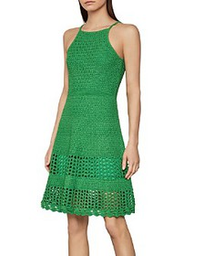 BCBGMAXAZRIA - Crochet Knit A-Line Dress