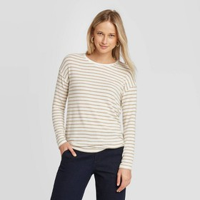 Women's Striped Long Sleeve T-Shirt - A New Day™