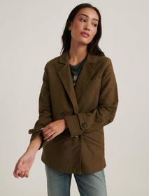 Lucky Brand Double Breasted Utility Blazer