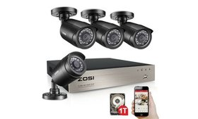 ZOSI 8CH 1080N DVR 1TB HDD Outdoor 720p Home Surve