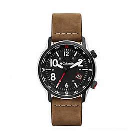 Columbia Outbacker Three-Hand Leather Watch