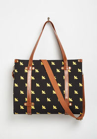 Camp Director Zipped Tote Black/Yellow Bees