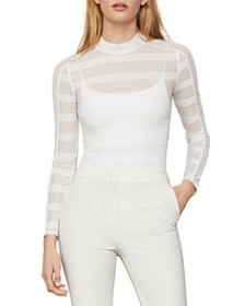 BCBGMAXAZRIA - Striped Lace Bodysuit