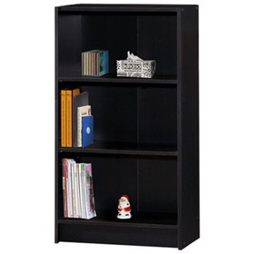 3 Shelf Bookcase in Black - Hodedah