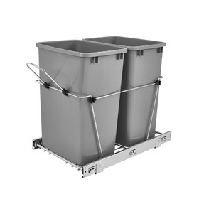 Rev-A-Shelf RV-18KD-17C S Double 35-Quart Sliding