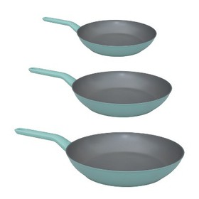 BergHOFF Leo 3Pc Non-Stick Fry Pan Set, Dusty Gree