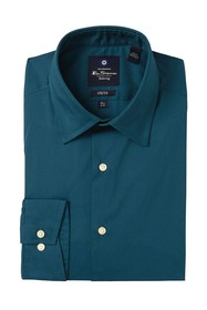 Ben Sherman Solid Tailored Stretch Fit Dress Shirt