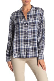 FRANK & EILEEN Eileen Plaid Printed Button Front S