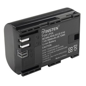 Insten Decoded LP-E6 Battery pack 2800mAH For Cano