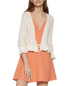 BCBGENERATION - Ruffled Open-Knit Cardigan