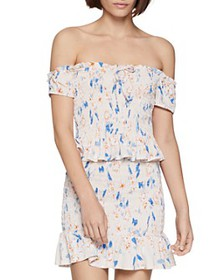 BCBGENERATION - Floral Smocked Off-the-Shoulder To