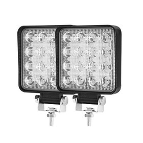 FieryRed 2PCS 4 Inch Square LED Work Light Bar 80W