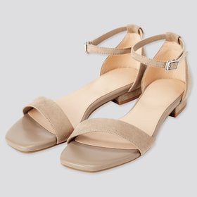 Women Ankle Strap Sandals, Beige, Medium