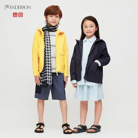 Kids Washed Cotton Parka (Jw Anderson), Navy, Medi
